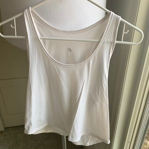 White Swift Crop Tank - Size 4